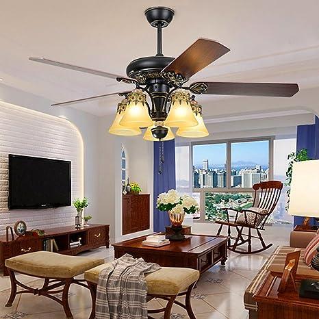 LuxureFan Retro Classic Ceiling Fan Light Fixture Elegant Decoration ...