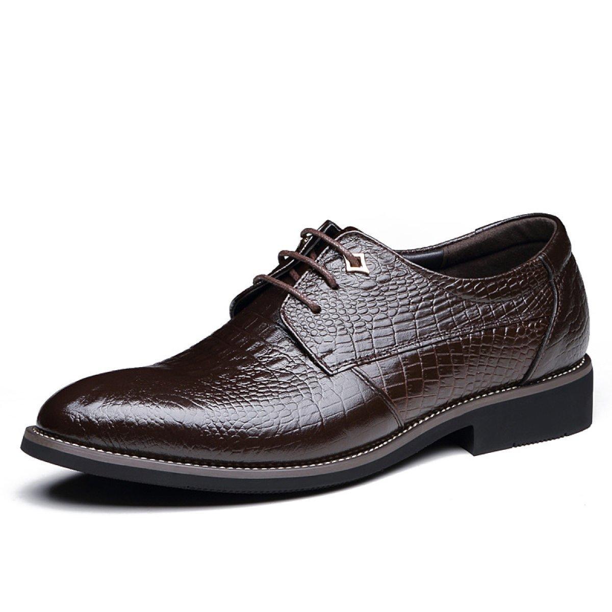 Los Hombres De Cuero Británico Corbatas Cocodrilo Patrón Vestido Oxford Zapatos Negro Marrón GTYMFHcompany