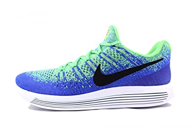 uk availability 6bb7c fee3b Nike Mens Lunarepic Low Flyknit 2 Running Shoe Electro Green/Black-Medium  Blue 8. 5