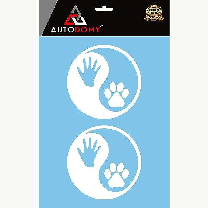 Noir Autodomy Autocollants Patte Chien Coeur Patte Love Patte Pack de 3 unit/és pour la Voiture ou la Moto