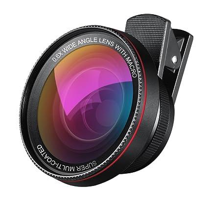 Amazon.com: AMIR 2 in 1 Professional HD Camera Lens Kit, 0.6X ...