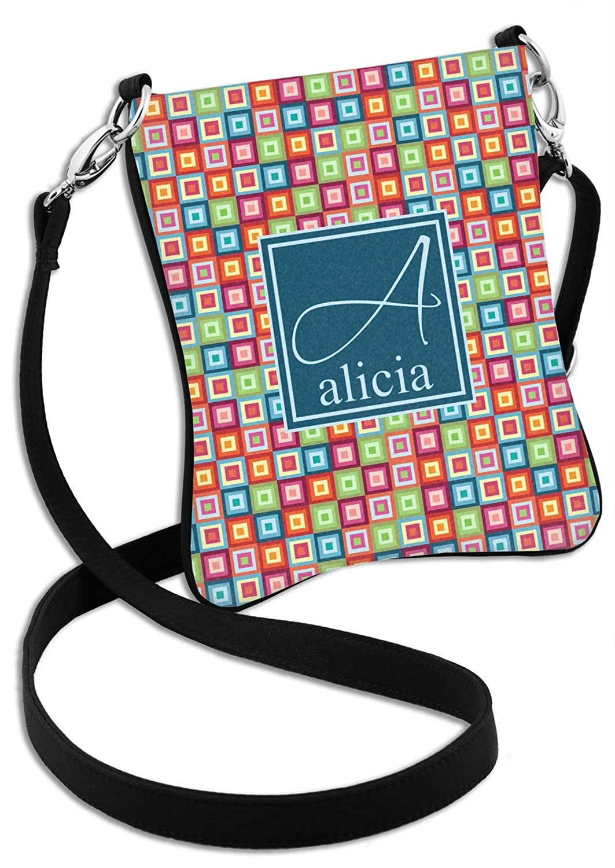 Retro Squares Cross Body Bag 2 Sizes Personalized