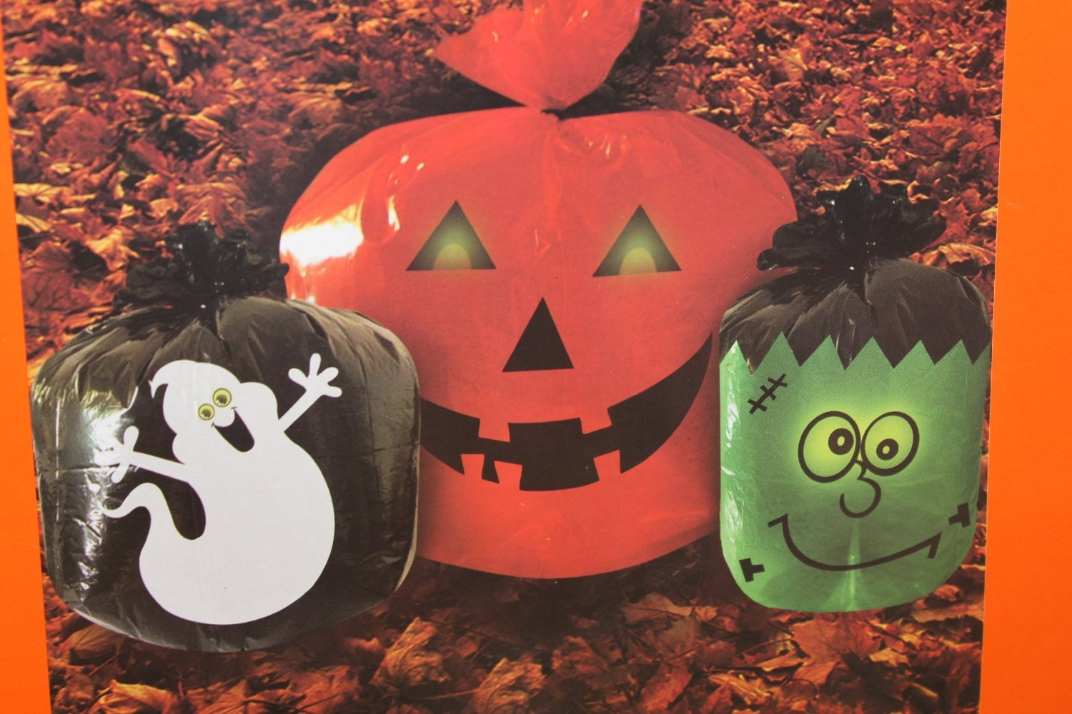 Halloween Glow in the Dark Lawn Bags - Pumpkin/ghost/frankinstein by Glow In The Dark