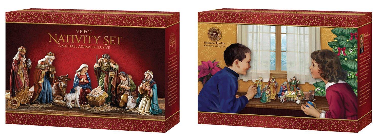 Avalon Gallery Nativity Figurine Set by Michael Adams, 9 Piece by CB Gift