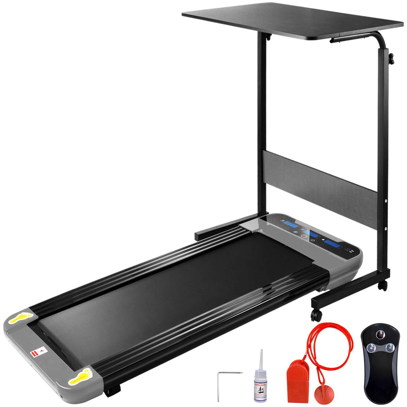 Popsport Smart Treadmill Digital Portable Electric Treadmill Under Desk Treadmill Slim Fitness Home Office(Silver with Desk) by Popsport