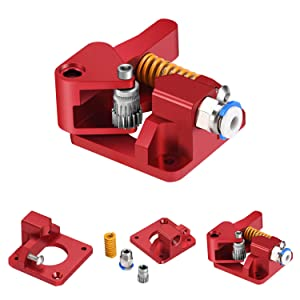 Zeelo Dual Drive Extruder, Aluminum Dual Gear Extruder Upgrade Kit for Tornado/CR-10/ CR-10S/ CR-10S Pro/Ender 3/Anet A8 Anycubic Mega Wanhao i3 (Right Hand)