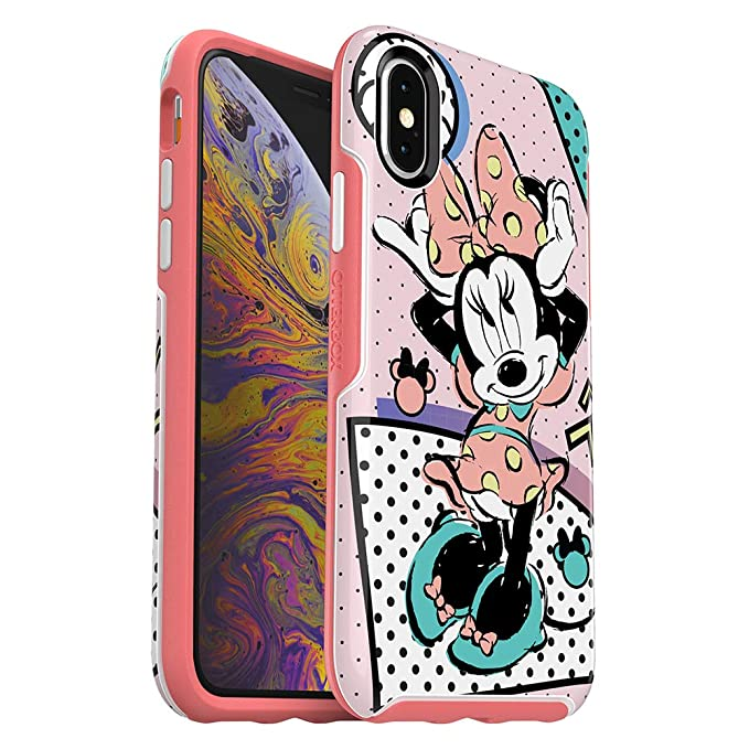 online store c7eb5 aa0ba OtterBox Symmetry Series Disney Totally Disney Case for iPhone Xs & iPhone  X - Retail Packaging - RAD Minnie (White/Flamingo Pink/RAD Minnie Graphic)