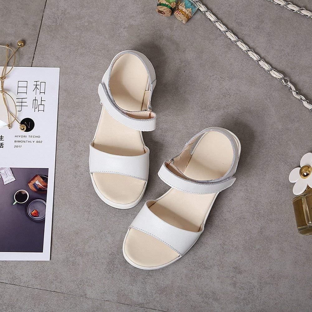 Oudan Oudan Oudan Fashion Velcro Sandalen Komfort All-Match-Schuhe Rutschfeste Tragen Sandalen (Farbe   Schwarz Größe   EU 40) 53f44d