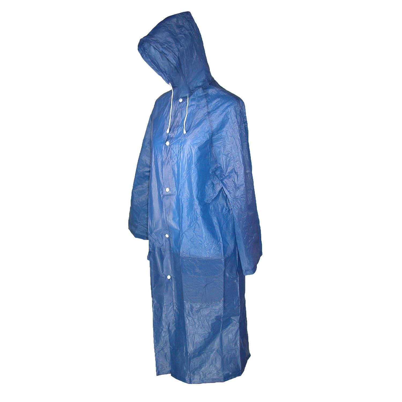 CTM® Women's Vinyl Clear Hooded Raincoat
