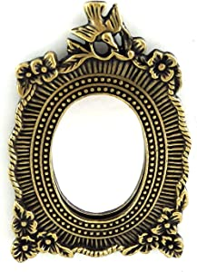 Melody Jane Dolls Houses House Miniature Accessory Floral Bird Mirror Decorative Antique Gold Frame