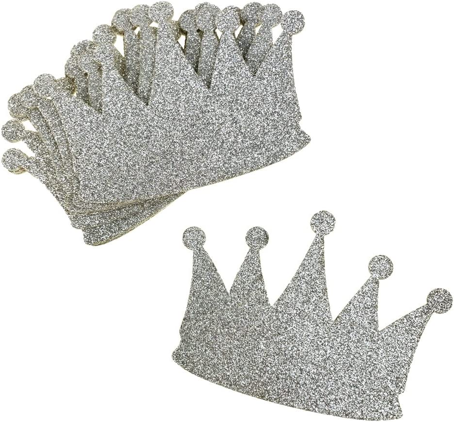 10-Count 2-3//4-Inch Glitter Foam Royal Crown Cut-outs