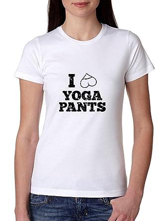 I Love Yoga pantalones inteligente corazón camiseta de algodón de las mujeres: Amazon.es: Ropa y accesorios