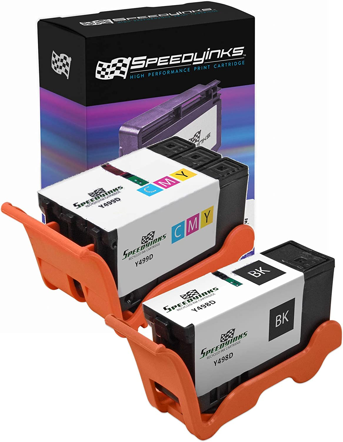 Speedy Inks Compatible Ink Cartridge Replacement for Dell Y499D & Y498D Series 21 (1 Black, 1 Color, 2-Pack)