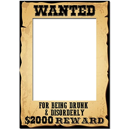 A3 Wild West Wanted Poster Photo Prop - Drunk And Disorderly: Amazon ...