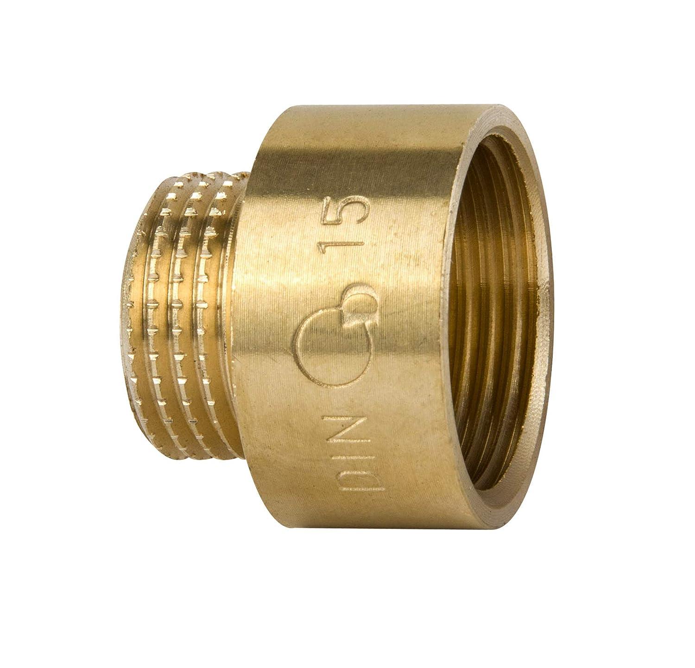 adaptateur Raccord de tuyau rond en laiton 1//2 femelle x 3//8 m/âle BSP Raccord r/éducteur