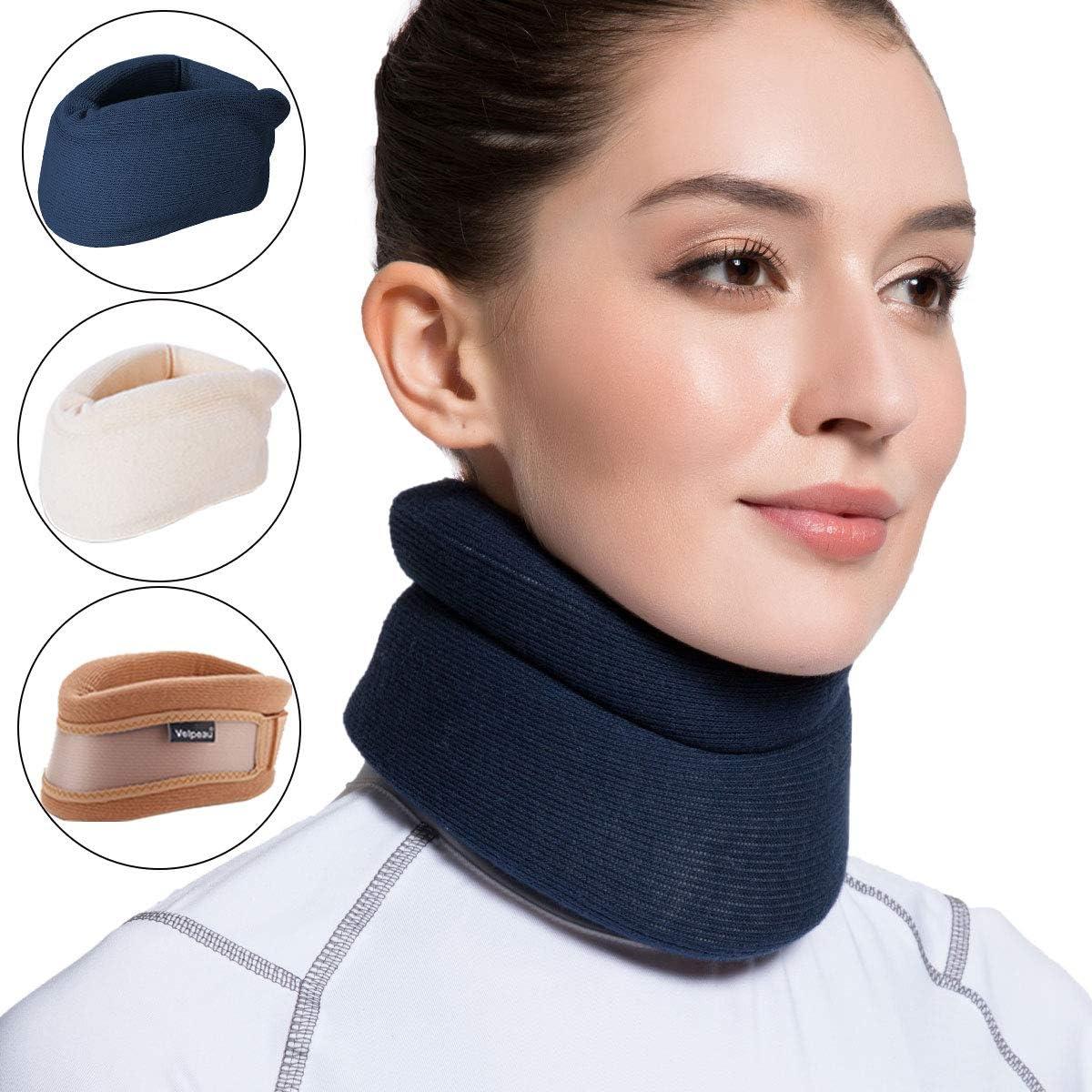 Velpeau - Collarín cervical de espuma para el cuello, suave apoyo para el cuello que alivia el dolor y la presión en la columna vertebral, se puede utilizar durante el sueño