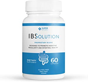 All Natural IBS Relief by IBSolution - Made in USA, Non-GMO, Gluten Free & Vegan (60 Capsules) - for Symptoms of IBS (Bloating, Constipation, Gas, Diarrhea, Abdominal Pain)