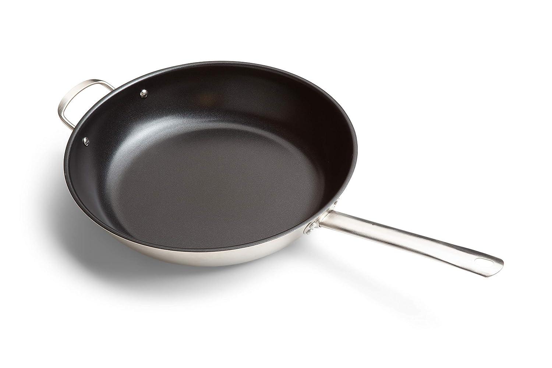 Revestimiento cer/ámico 32 cm Tivoli Sart/én de acero inoxidable de primera calidad apto para todo tipo de placas de cocci/ón