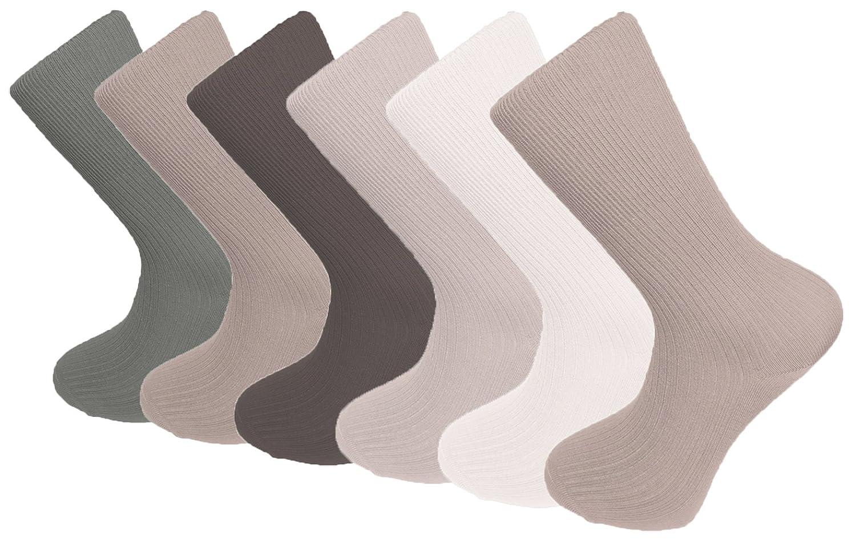 6-12 X Lot Of Ladies BAMBOO Loose Top Socks Super Soft Anti Bacterial UK 4-7