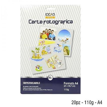 20 hojas papel fotográfico Foto A4 110 gr impermeable Ink Jet ...