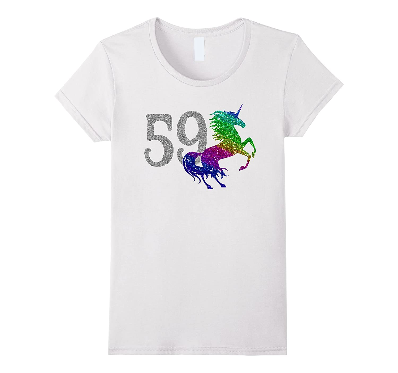 59 Year Old Shirt Unicorn 59th Birthday TShirt