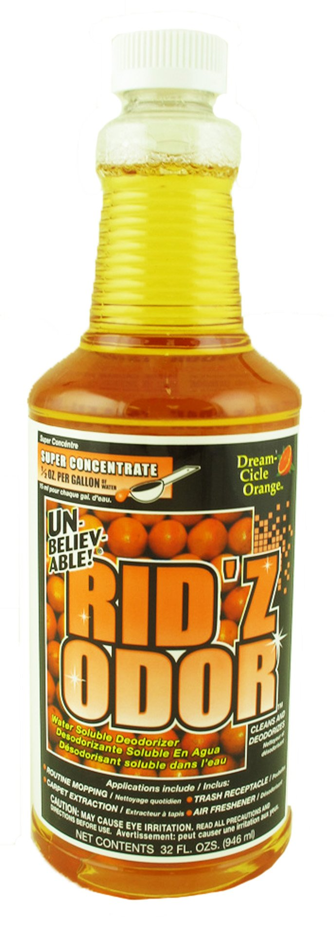 Unbelievable! UKO-502 32 Oz. Rid'z Odor Dream Cicle Orange Super Concentrated Deodorizer (Case of 12)