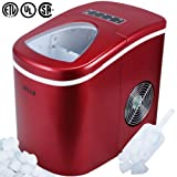 Amazon Price History for:Della Portable Ice Maker w/Easy-Touch, Yield Up To 26 Pounds of Ice Daily (Red)