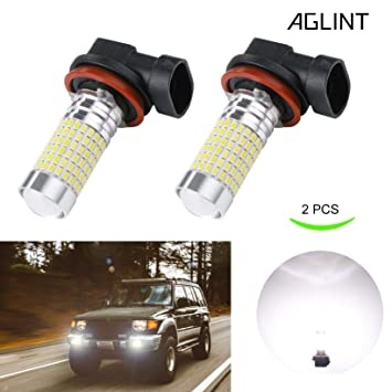 AGLINT H11 LED Bombilla Luz de Niebla Antiniebla de Coche 144SMD Extremadamente Brillantes H8 H9 H16
