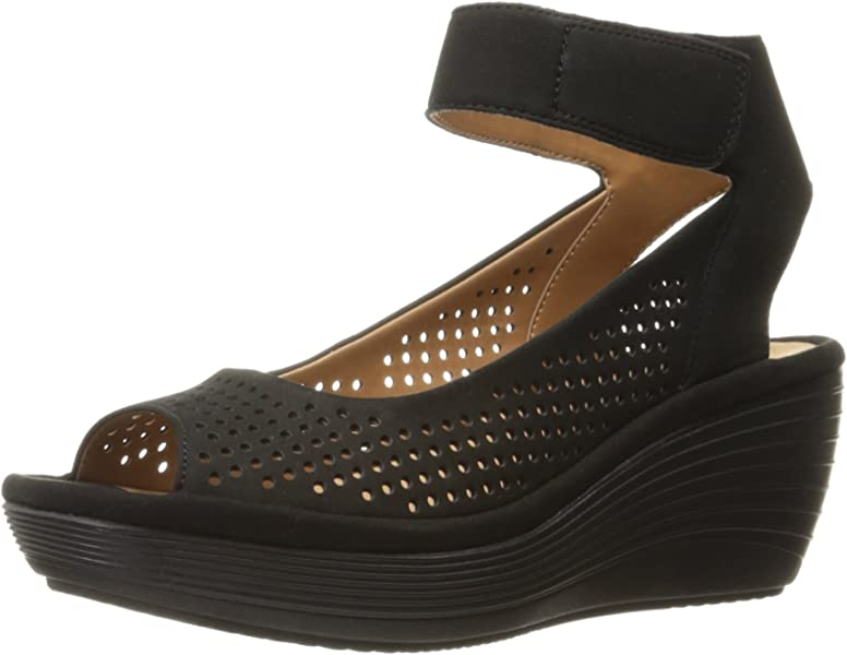 ae5f27b7683 Clarks Women s Reedly Salene Wedge Sandal
