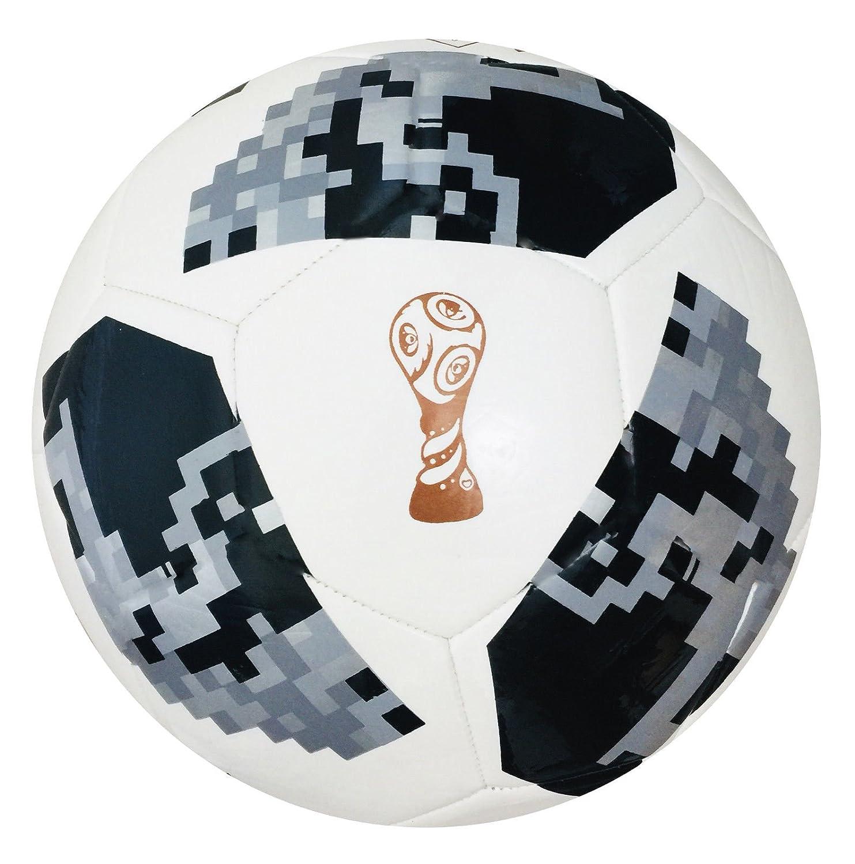 World Cup 2018 - Balón de fútbol con réplica rusa (tamaño 5,4,3, incluye bolsa de regalo)