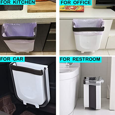 Womdee Dormitorio Creativa Plegable Papelera de Basura para Cocina peque/ño contenedor de Basura Colgante para Armario Cuarto de ba/ño Coche