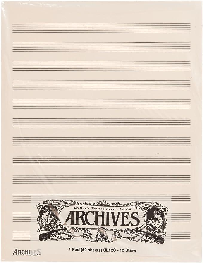 DAddario SL12S Blocs Pentagramados Archives: Amazon.es: Instrumentos musicales