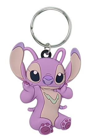 Disney Lilo & Stitch - Angel Soft Touch PVC Key Ring Key Accessory