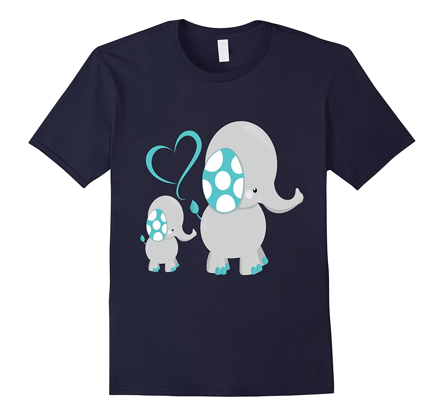 5aac86f02795 Baby Boy Elephant Shirt Blue Cute Kids Son Gray Mom Dad-TH - TEEHELEN