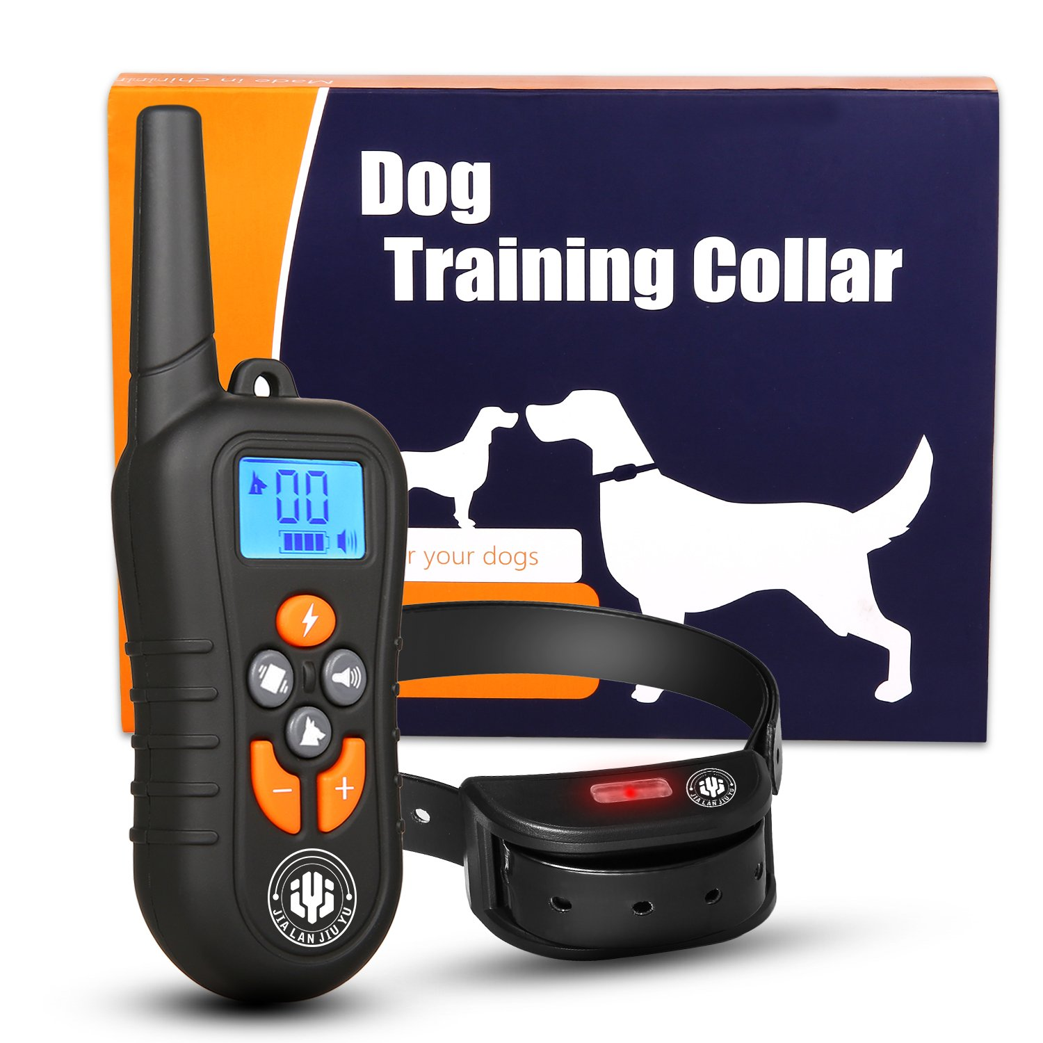 Dog Training Collar,Shock Bark Training Collar for dogs,NO Hurt and Rechargeable and IP7 Waterproof with 1800FT Remote Beep/vibration/Shock Electronic Collar Modes for Small Medium Large Dogs