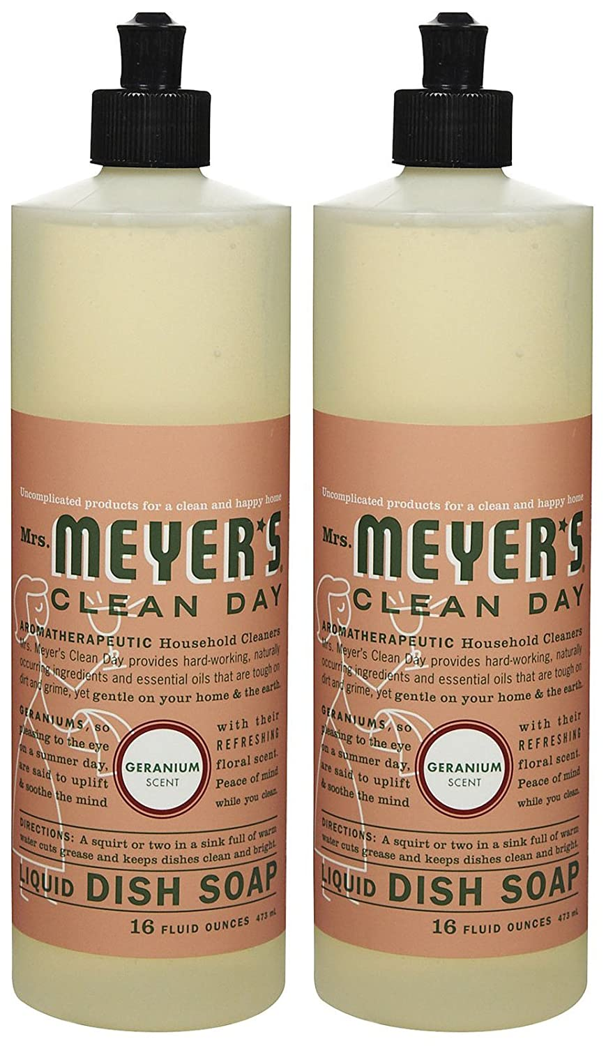 Mrs. Meyer's Clean Day Liquid Dish Soap, Geranium, 16oz, 2pk Mrs. Meyer' s Clean Day 13103