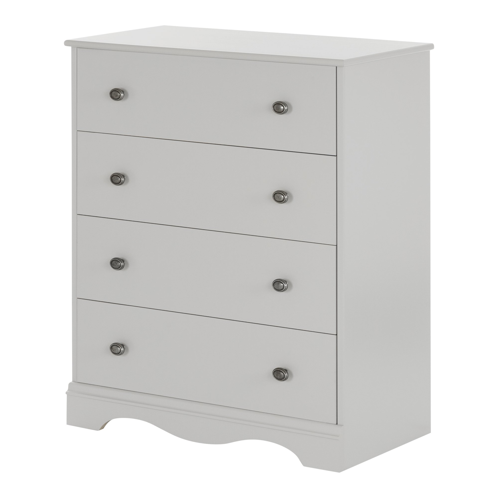 South Shore Angel 4 Piece Chest, Soft Gray
