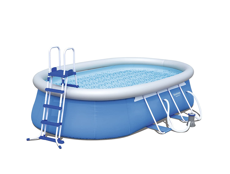 Bestway 56461 Steel Pro Oval Frame Pool Set Mit Filterpumpe 549 x ...