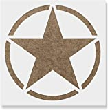 Military Star Stencil Template For Walls And Crafts