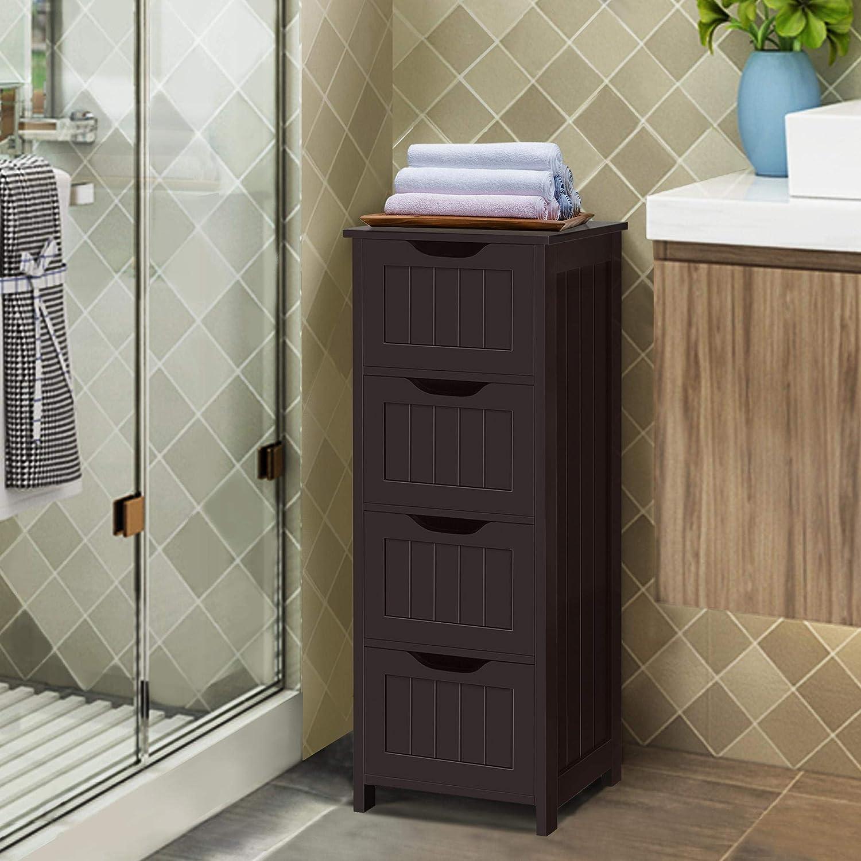 Bath Bathroom Furniture Sets Topeakmart Wooden Floor Cabinet ...