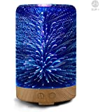 SUN-E Aromatherapy Oil Diffuser,100ML Essential Oil Ultrasonic Cool Mist Humidifier Waterless Auto Shut-off Perfect Gift With 3D 16 Color Changing Starburst LED Lights
