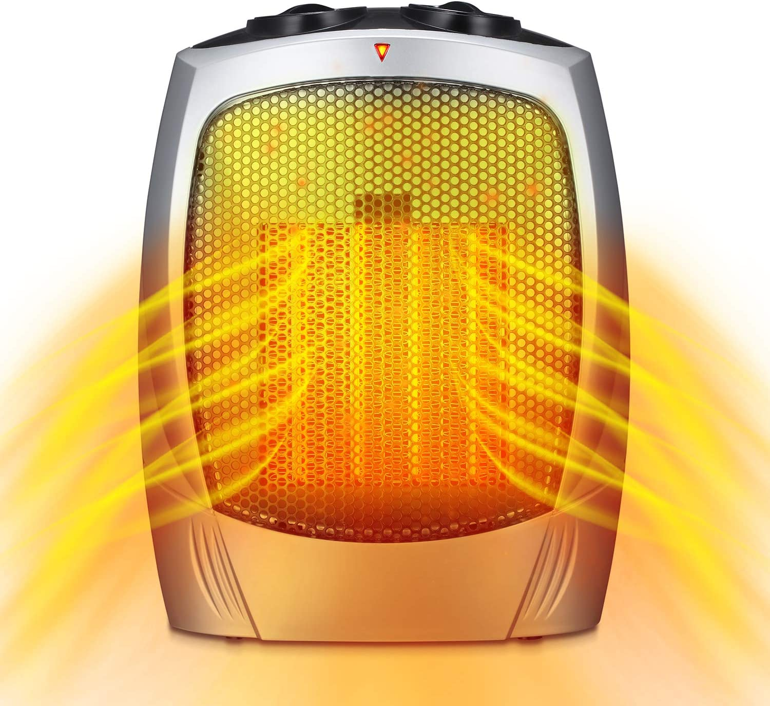Antarctic Star Portable Electric Space Heater, 1500W/750W ETL Certified Ceramic Small Heater with Thermostat, Quiet for Office Room Desk Indoor Use Home and Office