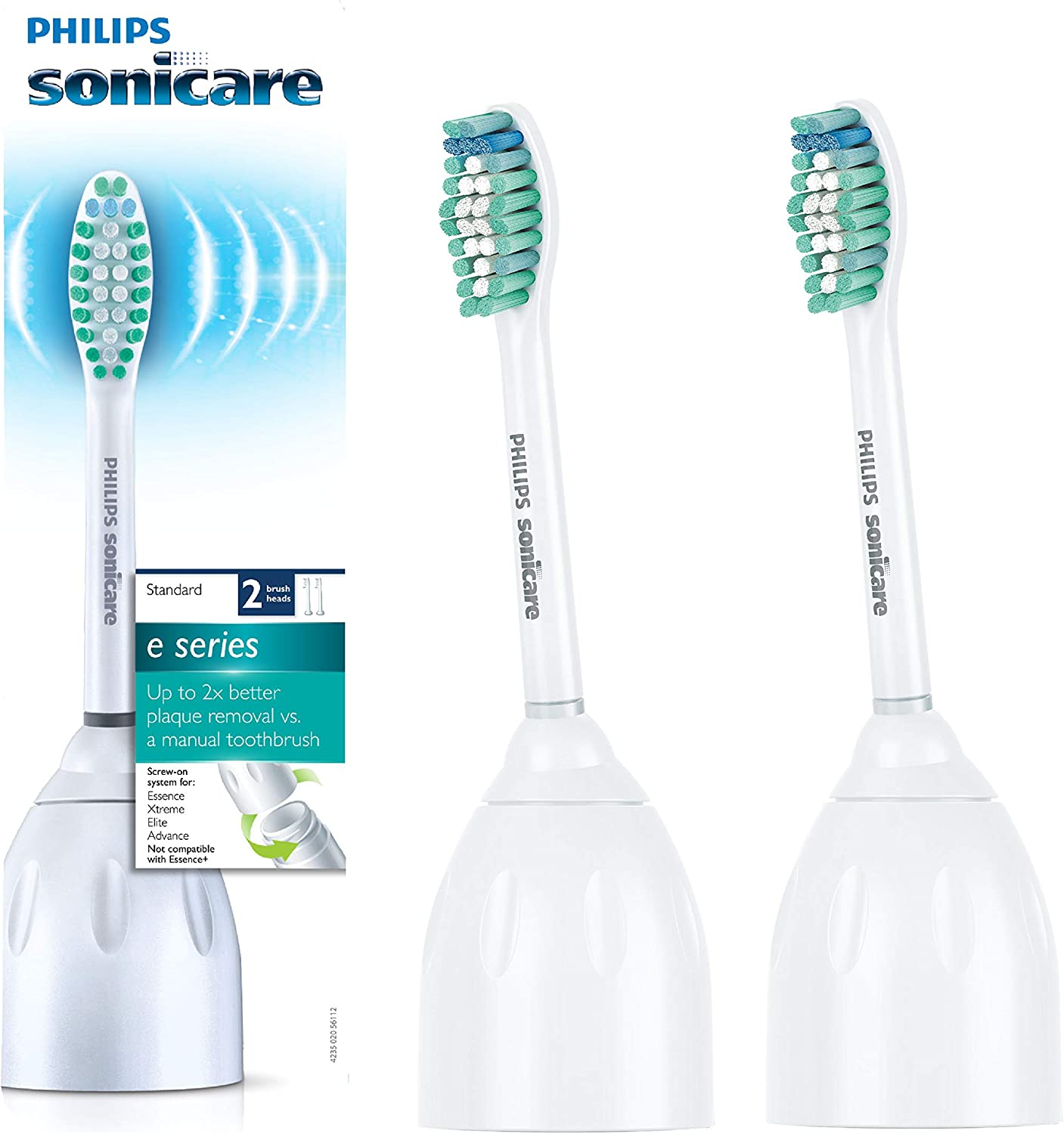Amazon Com Philips Sonicare Hx7022 66 Genuine E Series Replacement Toothbrush Heads 2 Pk Oral Care Brush Heads Health Personal Care