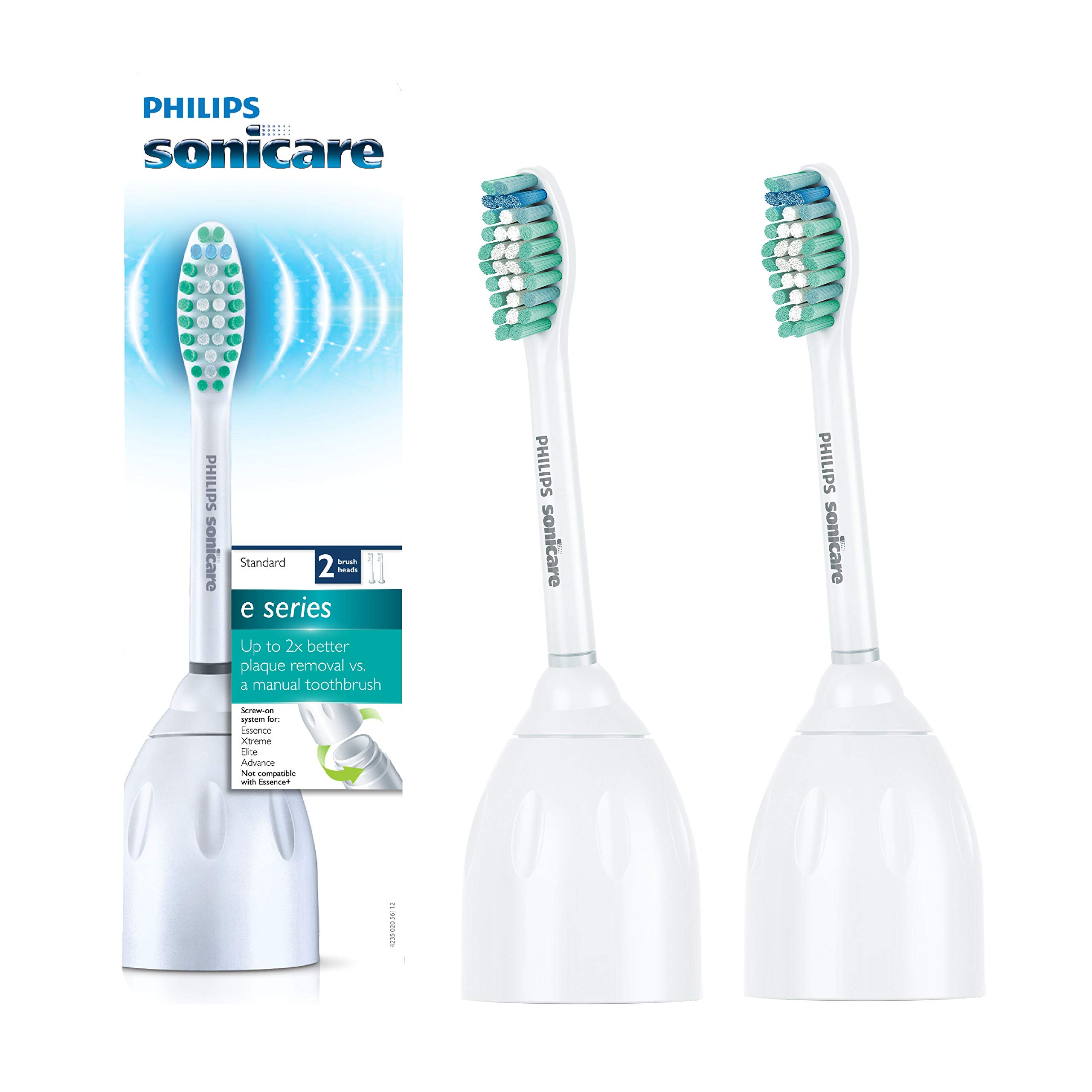 Genuine Philips Sonicare E-Series replacement toothbrush heads, HX7022/66, 2-pk by Philips Sonicare
