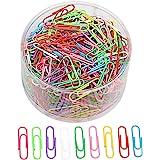 500 Stück Büroklammern, sicai 33mm Unternehmen Büroklammern, verschiedene Farben