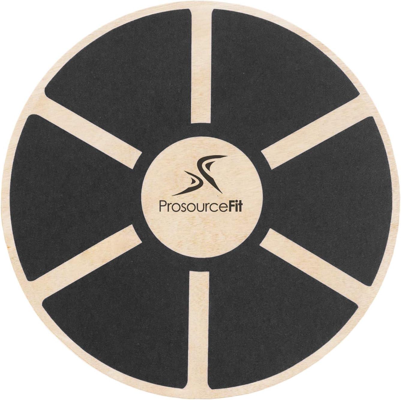 Prosource Fit Wooden Balance Board Non-Slip Wobble Core Trainer 15.75in Diameter