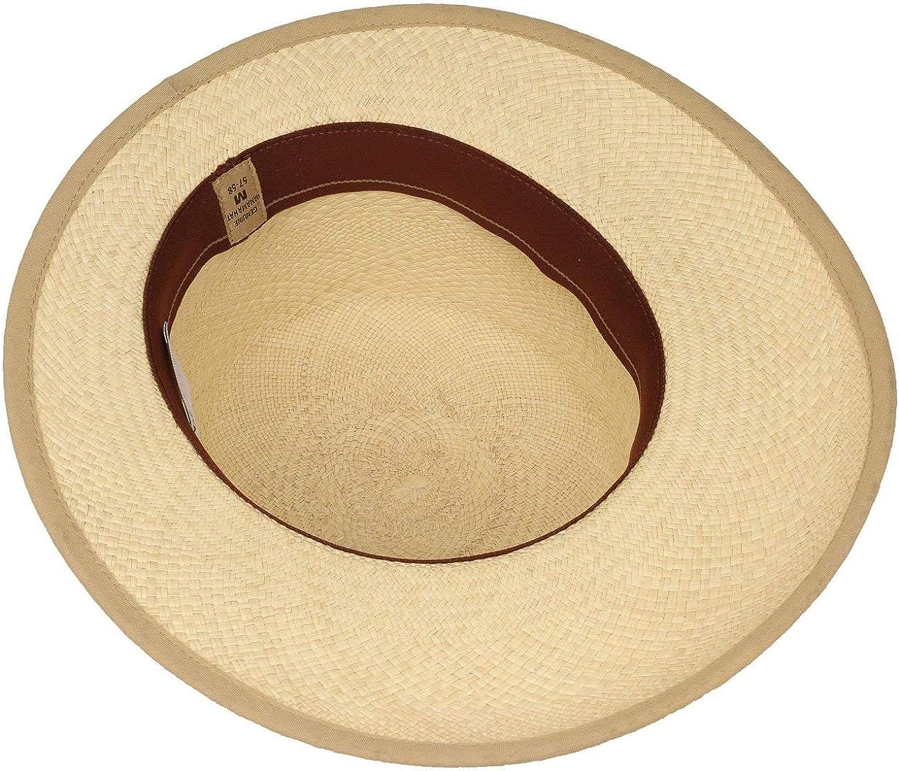 Made in Ecuador de Soleil DEte Casquette pour avec Ruban Gros Grain Passepoil Printemps-ete Lierys Chapeau Vina en Paille Panama Femme