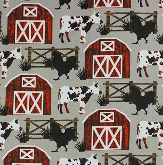 By the yard Flannel Fabric 100/% Cotton Flannel Sketched Animal Camping