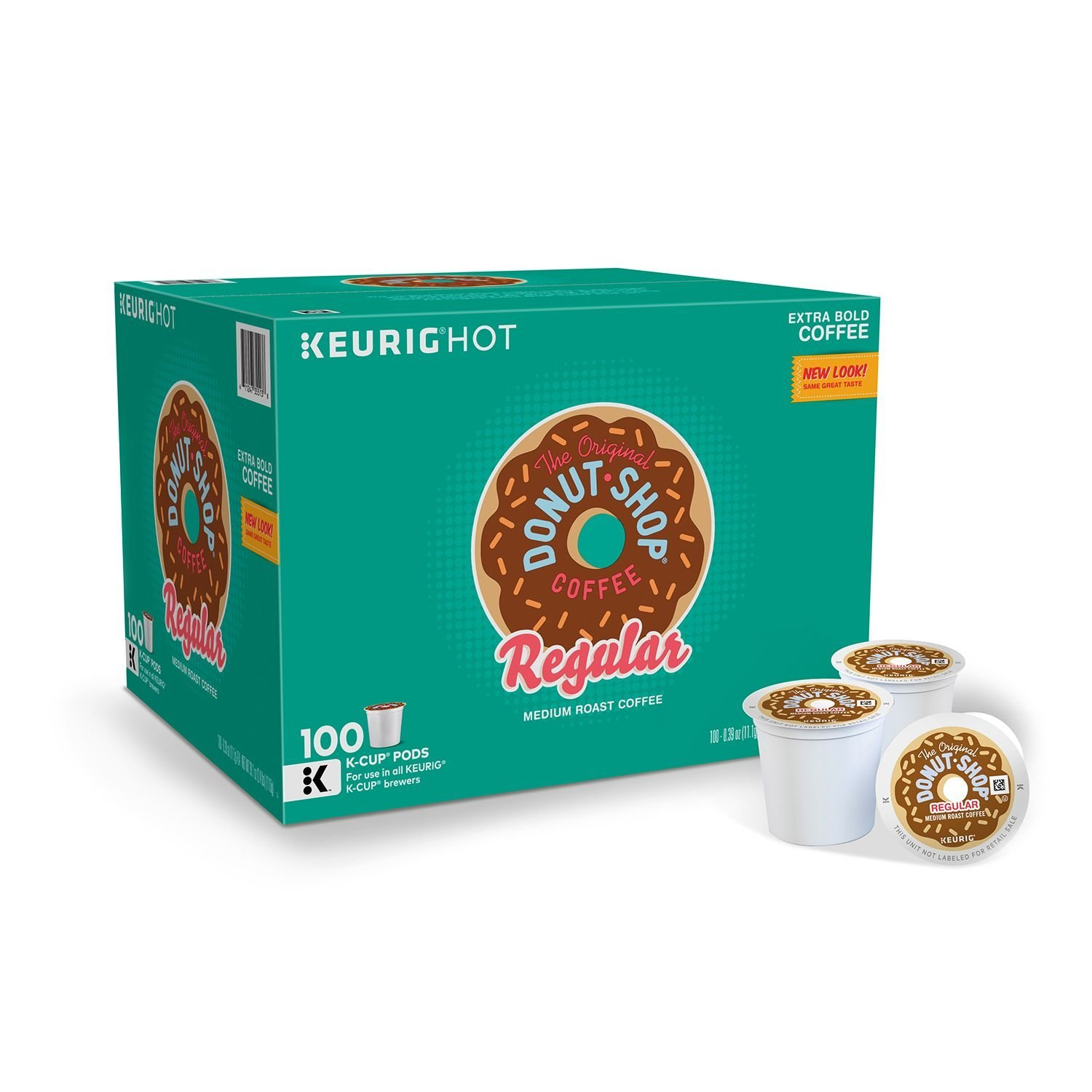 The Original Donut Shop The Single-Serve K-Cup Pods, Medium Roast Coffee, 100 Count, 100 Count, Regular, 100 Count