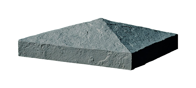 NextStone Slatestone Post Cover Cap 10 x 10 Charcoal